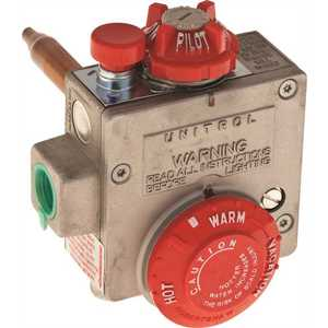 Robertshaw 110-326 NATURAL GAS WATER HEATER THERMOSTAT, 1.375-INCH SHANK, 3.5-INCH WATER CONNECTOR Stainless Steel