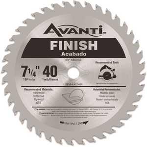 Avanti A0740R 7-1/4 in. x 40-Teeth Saw Blade