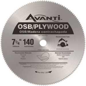 Avanti A07140A 7-1/4 in. x 140-Teeth OSB/Plywood Saw Blade Silver