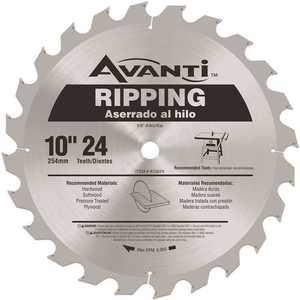 10 in. x 24-Teeth Ripping Saw Blade Silver