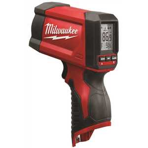 Milwaukee 2278-20 M12 Lithium-Ion Laser Temperature Gun Infrared 12:1 Thermometer (NIST) (Tool-Only)