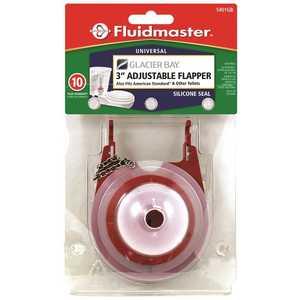Fluidmaster 5401GBP4 GLACIER BAY FLAPPER, 3 IN Red