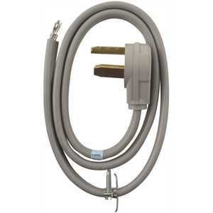 Whirlpool PT220L 4 ft. 3-Wire 30 Amp Dryer Cord Gray