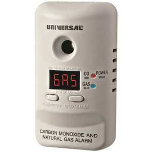 USI MCND401B PLUG IN COMBINATION CARBON MONOXIDE AND NATURAL GAS DETECTOR WITH DIGITAL DISPLAY