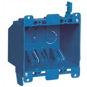 Carlon B225R-UPC 2-Gang 25 cu. in. Blue PVC Old Work Electrical Switch and Outlet Box