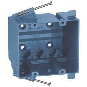 THOMAS & BETTS SN236V Thermoplastic 2-Gang Nail It Box Blue