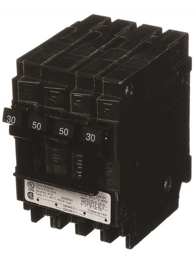 Q23050CT2 One 30-Amp 50-Amp Double Pole Circuit Breaker Thermal-Magnetic Tools /&