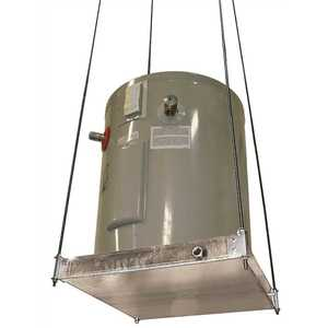 Holdrite 50-SWHP-M SUSPENDED WATER HEATER PLATFORM WITH PAN 26-1/2 IN. X 26-1/2 IN. DIA Silver Metallic