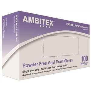Tradex International VXL200 X-Large Vinyl Powder-Free Exam Gloves -100 Gloves