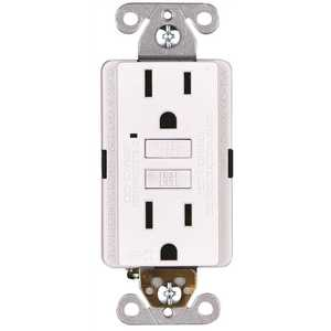 Faith GLS-15A-WH-10 15-Amp 125-Volt GFCI Duplex Outlet, GFI Receptacle with Indicator Light, Wall Plate Included, White Pack of 10