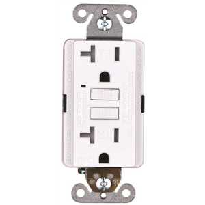 Faith GLS-20ATR-WH-10 20-Amp 125-Volt GFCI Duplex Tamper Resistant Outlet, GFI Receptacle with Indicator Light and Wall Plate, White Pack of 10