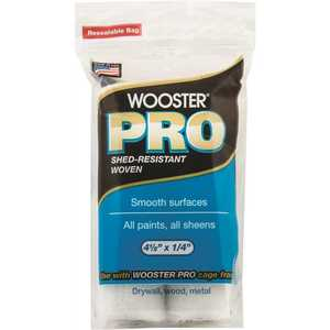 Wooster 0HR2920044 4-1/2 in. x 1/4 in. High Density Woven Mini Roller Covers