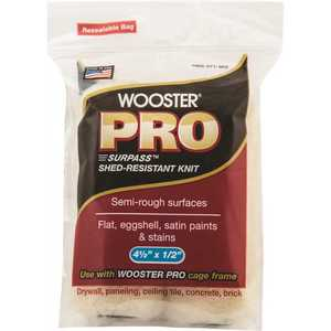 Wooster 0HR2620044 4-1/2 in. x 1/2 in. Surpass Shed-Resistant Knit High-Density Fabric Cage Frame Mini Roller