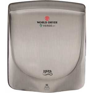 WORLD DRYER Q973-A Brushed Stainless Steel Electric Hand Dryer
