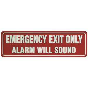 DETEX EA-561 DOOR WARNING SIGN Red