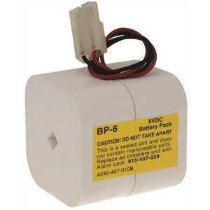 Alarm Lock BP6 REPLACEMENT 6 VOLT BATTERY White