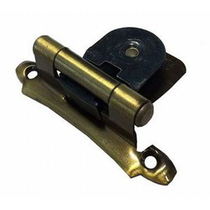 Functional Hardware Single Demountable Face Mount Hinge Variable Overlay Antique Brass
