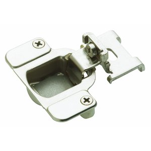 Matrix 2 Way Concealed Grass Hinge with 105 Degree Opening 1/4 Inch Overlay Nickel