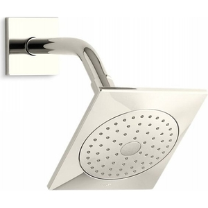 2.5 gpm Loure Square Single Function Showerhead with Katalyst Air-Induction Spray Vibrant Polished Nickel