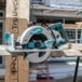 Makita® 5377MG 7-1/4 Inches Blade Diameter Corded Lightweight Magnesium Hypoid Circular Saw with built in Fan and 24T Carbide Blade Teal - Factory Reconditioned