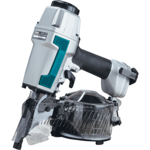 "Makita® AN611 21/2 Inches Nail Size Pneumatic Aluminium Sliding Coil Nailer featuring ""Tool Less"" Depth Adjustment with 9 Detent Settings Silver - Factory Reconditioned"