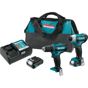 Makita® CT226 7-7/16 Inches Length 12-Volt LXT Lithium-Ion Cordless Driver Drill and Impact Driver 2pc. Combo Kit Teal - Factory Reconditioned