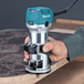 Makita® RT0701C 7-7/8 Inches Length 6.5 Amp 1-1/4 HP Corded Fixed Base Variable Speed Compact Router with Quick-Release Teal - Factory Reconditioned