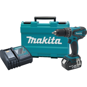 Makita® XPH012 8-1/8 Inches Length 18V LXT LithiumIon Cordless 1/2 Hammer DriverDrill Kit with 3Ah Battery Teal - Factory Reconditioned