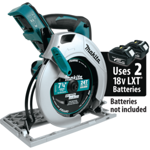 Makita® XSH01Z 71/4 Inches Blade Diameter 18V X2 LXT LithiumIon (36V) Cordless Circular Saw Tool Only Teal - Factory Reconditioned