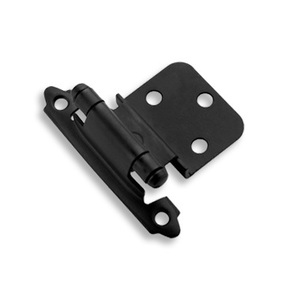 Amerock bp3428fb 3/8in (10 mm) Inset Self-Closing, Face Mount Flat Black Hinge - Pair