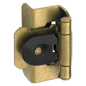 1/2in (13 mm) Overlay Double Demountable Burnished Brass Hinge - Pair