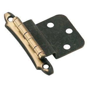 Non self closing Antique Brass 3'' Inset Hinge