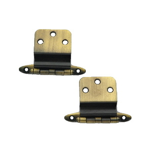 Amerock 69195 Non Self-Closing Hinge, 3/8-Inch, Antique Brass