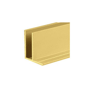 Gold Anodized Fixed Glass Frame