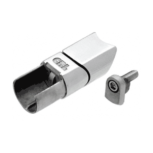 Brushed Stainless CRS Adjustable Upper Adaptor for Sloped Bottom Rail Use on Stairs