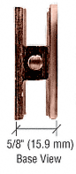 CRL UC77PC0 Polished Copper Traditional Style Fixed Panel U-Clamp