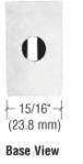 "CRL Z106SC Satin Chrome Z-Series Large Round Clamp for 1/4"" Glass"