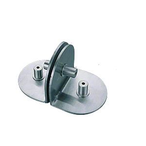 Polished Stainless 2-Way Glass / 1-Way Wall Circular Bracket
