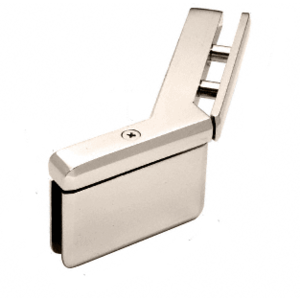 Polished Nickel Prima 135 Series Glass-to-Glass Right Hand Mount Hinge