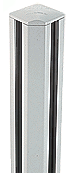 """CRL S48CRKW Sky White AWS 2"""" x 2-5/8"""" Rectangular 90 Degree 48"""" Corner Post Kit"""
