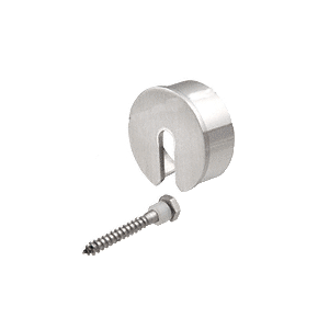 "Brushed Stainless Stabilizing End Cap for 4"" Cap Railing"