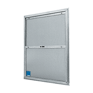 "CRL BACP284 22-3/4"" x 38-3/4"" Bel-Air ""Plaza"" Replacement for Competitive Combination Unit with Clear Tempered Glass and Mill Frame for 1-3/4"" 2-8 Door"