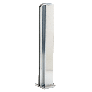 "Brite Anodized 16"" End Design Series Partition Post"