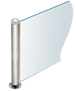 "CRL PP09EPS Polished Stainless 18"" Round PP09 Elegant Series Counter/Partition End Post"