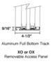 CRL SCDW1802DU Duranodic Bronze Self-Closing Deluxe Sliding Service Windows with Aluminum Full Bottom Track
