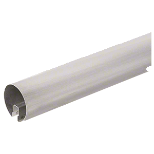 """Brushed Stainless 4"""" Premium Cap Rail for 1/2"""" or 5/8"""" Glass - 168"""""""