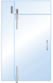 CRL LS34BS Brushed Stainless Laguna Pivot Door System for Use With Free-Swinging Doors With Sidelite and Glass Transom Bracket