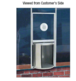CRL RS200A Satin Anodized Rotating Service Window