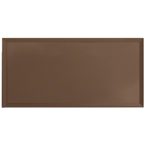 Bronze Five-Gang Blank Without Screw Holes Mirror Plate
