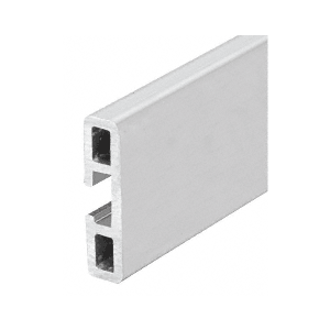Extruded Aluminum Wall Protector Rail - Buffed Brite Anodized
